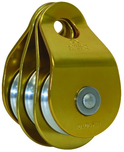 3M DBI-SALA Rollgliss Technical Rescue 8700017 Triple Sheave, 50MM Diameter Rigging Pulley, Aluminum, 2