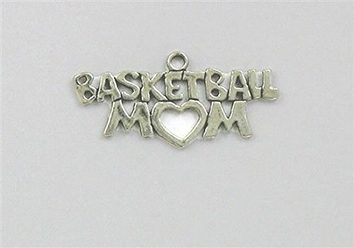 Sterling Silver Basketball Mom Charm for Jewelry