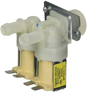 DealMux AC220V de doble cabezal de entrada de agua de la válvula ...