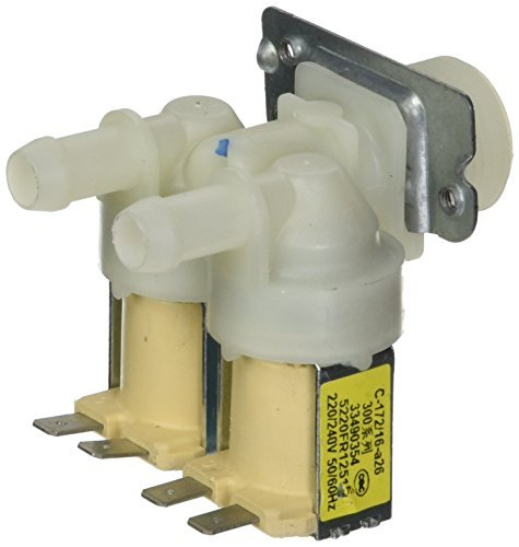 DealMux AC220V Dual Head Water Inlet Solenoid Valve for Roller Washing ()