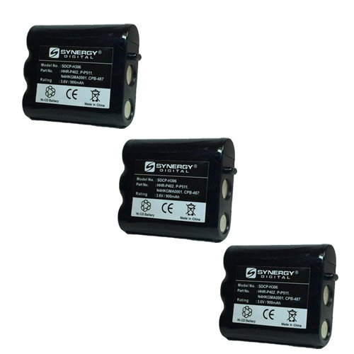 Panasonic N4HKGMA00001 Cordless Phone Combo-Pack includes: 3 x SDCP-H306 Batteries