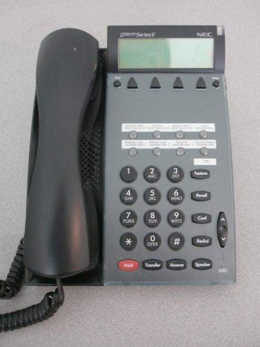 NEC DTERM SERIES E BLACK 8 BUTTON DISPLAY OFFICE SPEAKERPHONE DTP-8D-1 (BK) USA