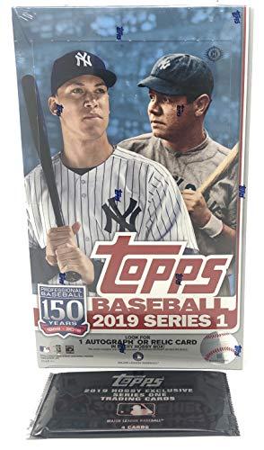2019 Topps Series 1 Baseball Hobby Box (24 Packs/14 Cards, 1 Silver Pack)