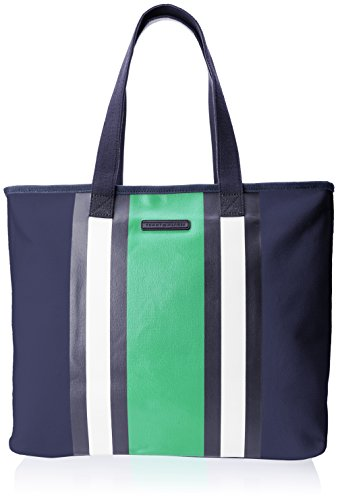 Tommy Hilfiger Stripe Canvas Extra Large Duffle Bag, Yachting Navy, One Size