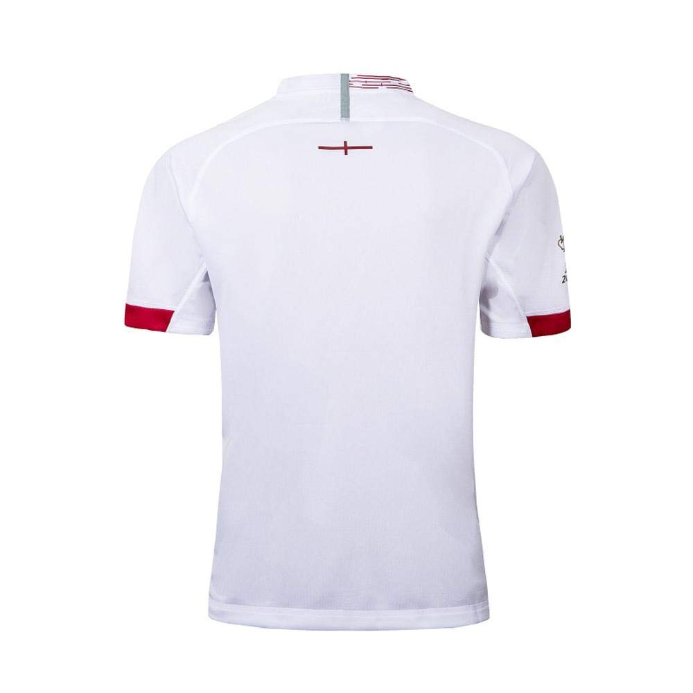 Fans 2019 Rugby World Cup England Home Away Football Jersey Football Wear T-Shirt Top S-5XL Comfort Quick-drying Sportswear Red-S