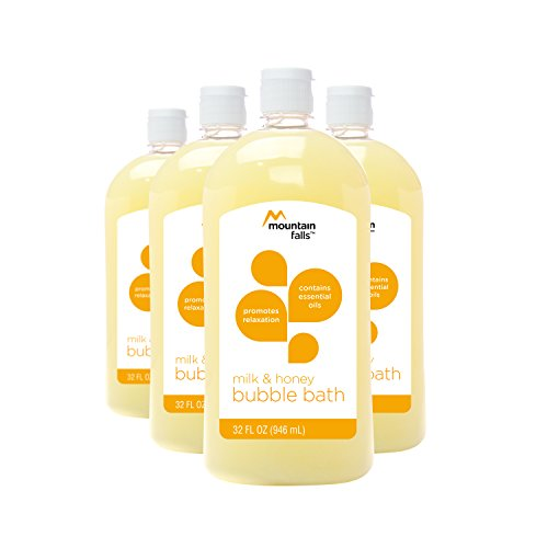 Mountain Falls Bubble Bath with Essential Oils, Milk and Honey, 32 Fluid Ounce (Pack of 4) ()