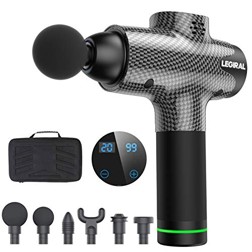 Massage Gun for Athletes, Portable Body Muscle Massager Professional Deep Tissue Massage Gun for Pain Relief with 6…