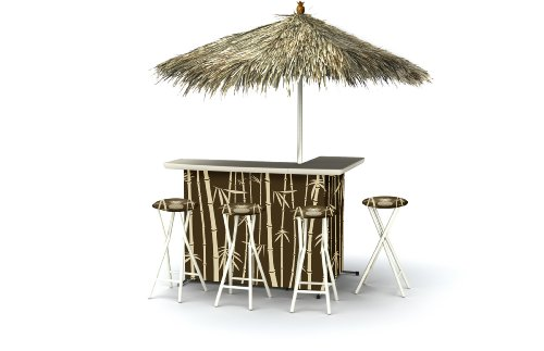 Best of Times Patio Bar and Tailgating Center Deluxe Package- (Tiki Bar Furniture)