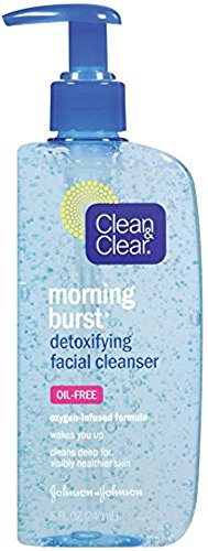 CLEAN & CLEAR Morning Burst Detoxifying Facial Cleanser Oil-Free 8 oz (Pack of 2)