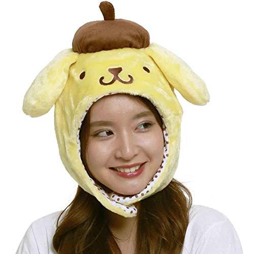 Sanrio Pompompurin (Pom Pom Purin) Fluffy Beanie Cap Soft Warm Winter Head wear Yellow