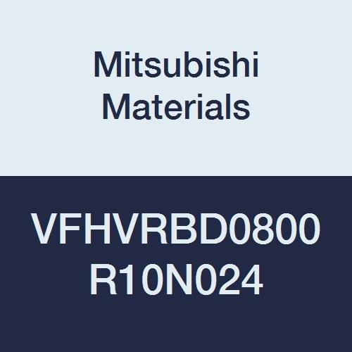 8 mm Cut Dia 4 Irregular Helix Flutes Corner Radius Shape Short 24 mm Neck Length 1 mm Corner Radius Mitsubishi Materials VFHVRBD0800R10N024 VFHVRB Carbide Impact Miracle End Mill 12 mm LOC