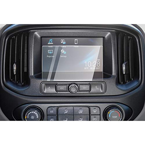 CDEFG Car Screen Protector Center Control Touch Screen Car Navigation Touchscreen Protector for 2017 2018 2019 Colorado Tempered Glass HD Scratch Resistance (2017-2019 Chevrolet Colorado 7-Inch) (2018 Chevy Touch Screen)