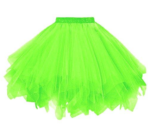 Dressever Vintage 1950s Short Tulle Petticoat Ballet Bubble Tutu Green Small/Medium -