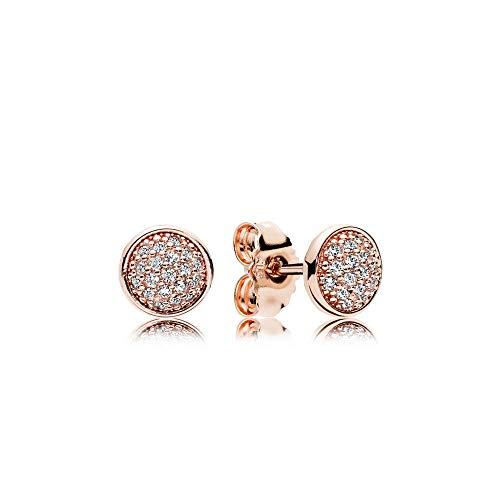 PANDORA Stud Earrings in PANDORA Rose with 38 Bead-Set Clear Cubic Zirconia - 280726CZ