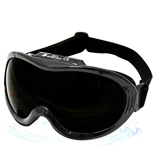 KwikSafety (Charlotte, NC) PIT VIPER ANSI Industrial (ANTI-FOG, ANTI-SCRATCH, Snug FIT) Welding Goggles Shade 5   Ventilation Infrared Welding Torch Brazing Flame Cutting Gas Oxy-Acetylene Black
