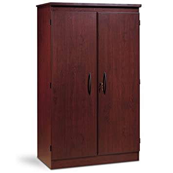 south shore furniture morgan storage cabinet royal cherry - Kitchen Furniture Storage Cabinets