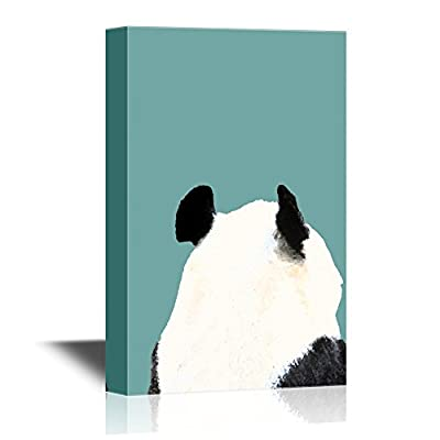 Canvas Wall Art - Back of a Panda - Gallery Wrap Modern Home Art | Ready to Hang - 12x18 inches