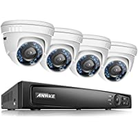 ANNKE 16CH 1080P HD-TVI H.264 Realtime DVR Security Camera System NO HDD included With (4)HD 1080P CCTV Dome Cameras,Weatherproof IP66,Night Vision, Remote Access and More
