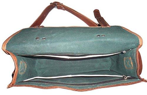 Fairkraft - Borsa in pelle da donna, 40,6cm, con tracolla, a spalla, a secchiello