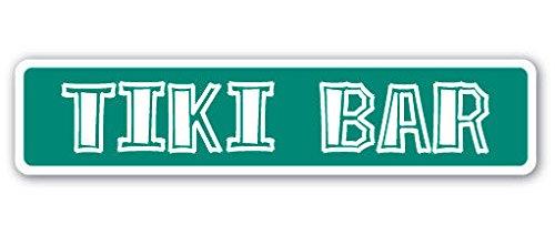 (Cortan360 TIKI BAR Street Sign Polynesian bamboo hut drinker outdoor| Indoor/Outdoor | 8