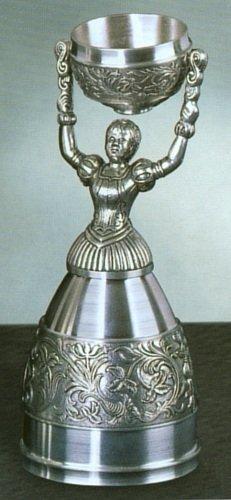 - German Pewter Nuernberg Bridal Wedding Cup Toasting Wine Glass