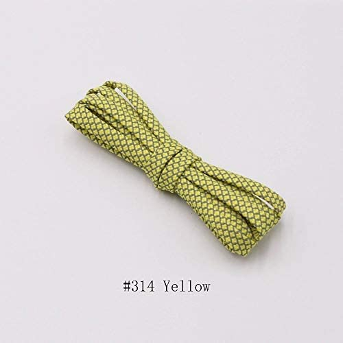 TMYQM 靴紐のランナーは靴を実行するためのベルトスポーツの安全靴ひも靴ひもを織り (Color : 314 Yellow 3M, Size : 180 cm)