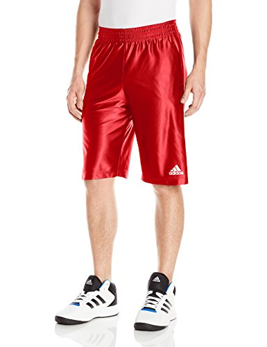 adidas Men's Basketball Basic 2 Shorts, Scarlet, Large