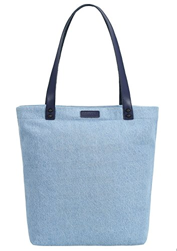 So'each Women's Denim Dye Handbag Tote Shoulder Shopper Bag Azul
