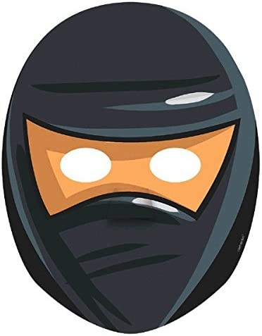 Amazon.com: amscan Boys Ninja Birthday Party Favors Mask ...