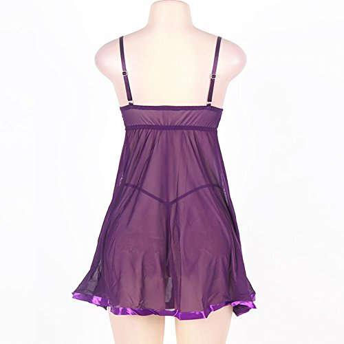 Myhope Donne Lingerie Plus Size con perizoma In poliestere Babydoll Pigiama set