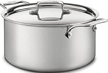 All-Clad d5 Brushed Stainless Steel 8 qt. Covered Stock Pot