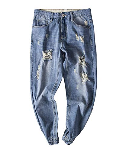 Tasca Leisure Chern Di Marca Moda Mode Fori Slim E Sportivo Colour Ray Fit Design Pantaloni Denim Con Alla Laterale YXngO
