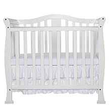 Dream On Me Addison, 4 in 1 Convertible Mini Crib, White
