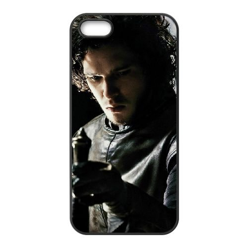 Game Of Thrones 1 coque iPhone 4 4S cellulaire cas coque de téléphone cas téléphone cellulaire noir couvercle EEEXLKNBC25168