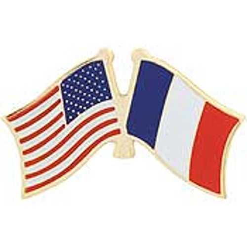 American & France Flags Pin 1