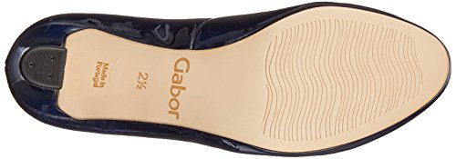 Gabor Fashion Marine Natur Pumps Damen Blau 5rqY57