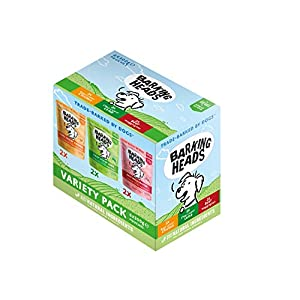 Barking Heads Adult Dog Food Wet Pouches Sobres De Comida Húmeda para Perros-Pack Surtido-Receta Natural Sin Cereales Ni…