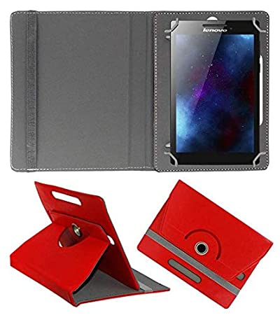 Hello Zone Exclusive 360 deg; Rotating 8 rdquo; Inch Flip Case Cover Book Cover for Samsung Galaxy Tab4 8.0 T330  Red Tablet Accessories