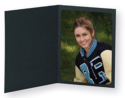 Black Photo Folder for 5x7/4x6 (Pack of 100) Cut corners by MALELO AND COMPANY