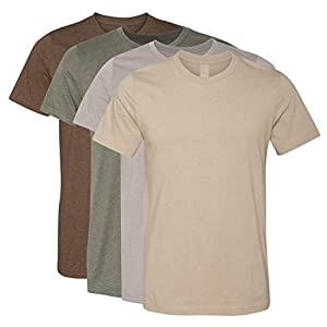Best Epic Trends 41FaW7Qi-SL._SS300_ Kennedy Todd 4 Pack Men's Heather Cotton Poly T-Shirt