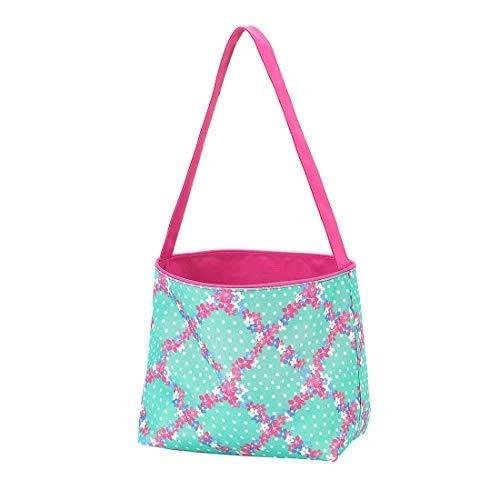 - Polka Dot Stripe Fabric Bucket Basket Tote Toy Storage Container (Non-Personalized, Penelope Purple Floral)