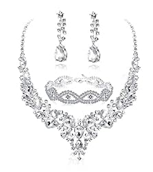 Crystal Bridal Jewelry Set for Women