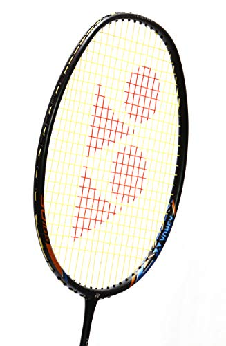 Yonex Badminton Racket Nanoray Series 2018 with Full Cover Professional Graphite Carbon Shaft Light Weight Competition Racquet High Tension Fast Speed Performance (NR18I-Black, Pack of 1)