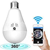 FirstPower Wireless 960P IP Bulb Camera WiFi Home Security Surveillance Camera for the Elder Baby Nanny Cam Pet Monitor with Night Vision