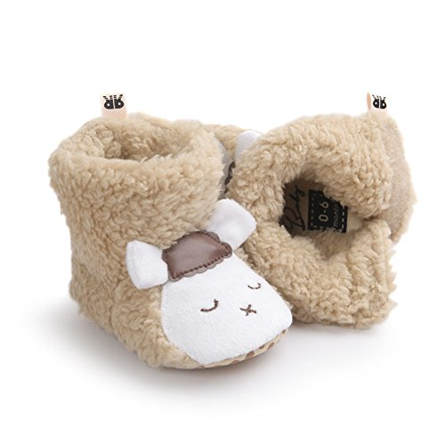Fire Frog Cartoon Winter Boots - Patucos para niño Brown Sheep