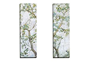 Portfolio Canvas Décor 'Garden Suite I' by Leila   12x36x1.5, 2 Pieces Canvas Wall Art