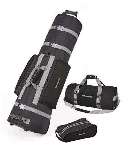 Samsonite Golf Deluxe 3 Piece Travel Set (Black/Black)