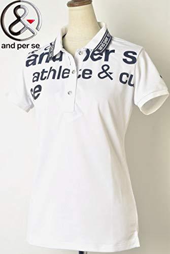[アンパスィ] 半袖ポロシャツ トップス レディース ゴルフ M ホワイト(10) B07Q7H1FYH
