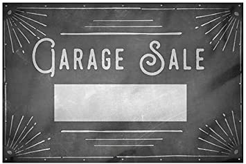 Garage Sale CGSignLab 9x6 Chalk Corner Heavy-Duty Outdoor Vinyl Banner
