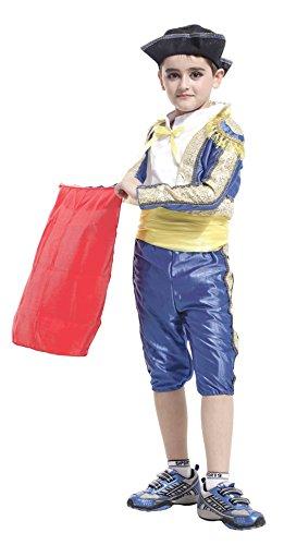 Boys Matador Role Play Child Spanish Dress up Halloween Cosplay Costumes (Medium) -